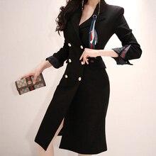 Vestido negro elegante moderno para mujer, recién llegado, elegante temperamento, vintage, de talla grande, grueso, de fiesta cálidos, vestido lápiz grande