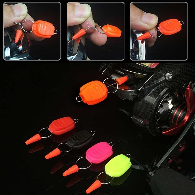 1 PC Baitcasting moulinet ligne de pêche titulaire ligne de pêche boucle bouchon gardien Clip accessoires de poisson