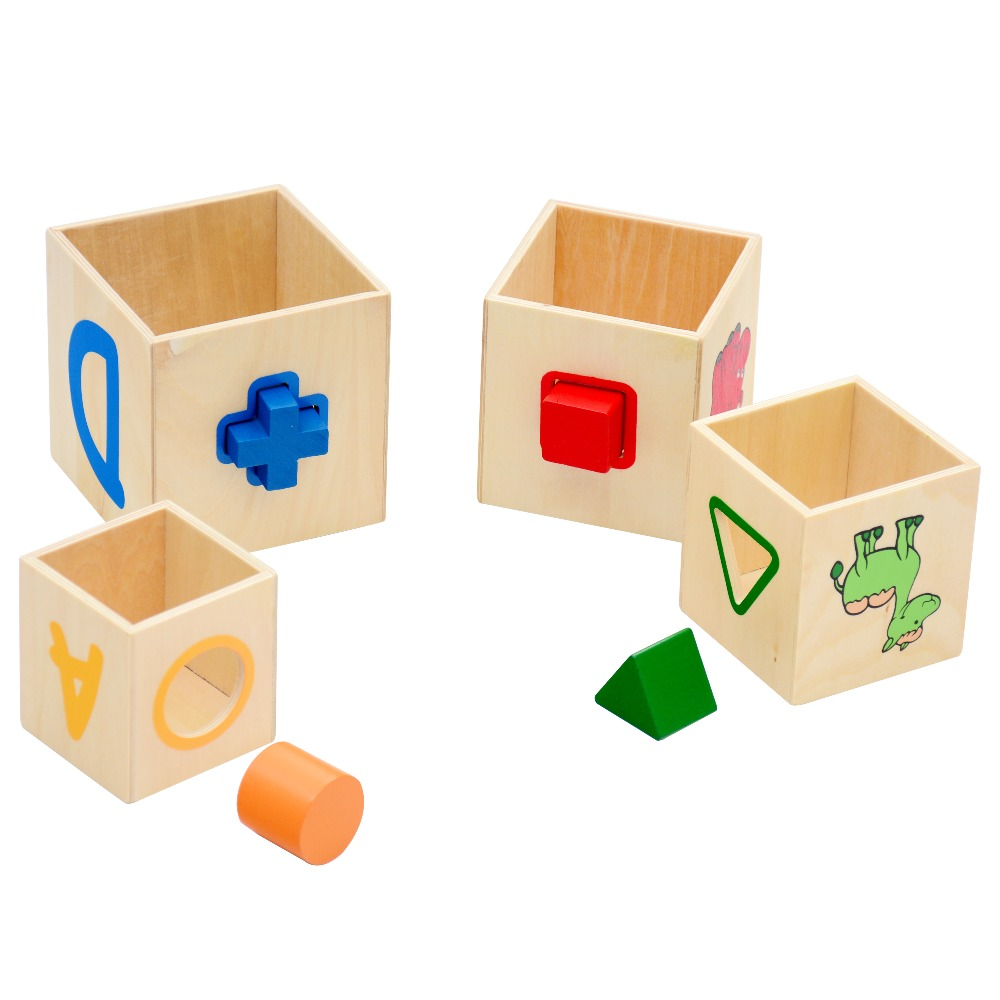Wooden Shape Sorter Stacking Blocks Educational Wood Baby Toys Children  Multifunction Early Learning Wooden Cube Color Learn In Blocks From Toys U0026  Hobbies ... Home Design Ideas