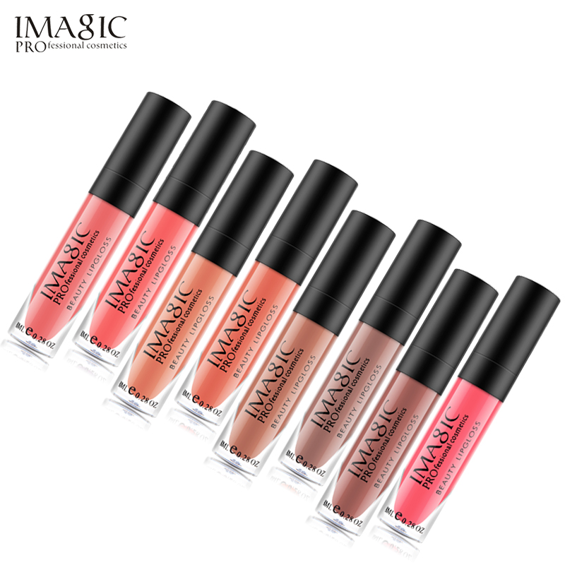 Matt Diffrent lichid ruj lichid Pearl Metals 23 Colours Lip Gloss Matte Lipgloss impermeabil 8ML de IMAGIC