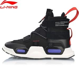 Image 4 - Vợt Cầu Lông Li Ning Unisex Nyfw Reburn Bóng Rổ Giải Trí Giày Đeo Xẻ Cao Lót Lý Ninh Tập Thể Dục Thể Thao Sneakers AGBP038 XYL232