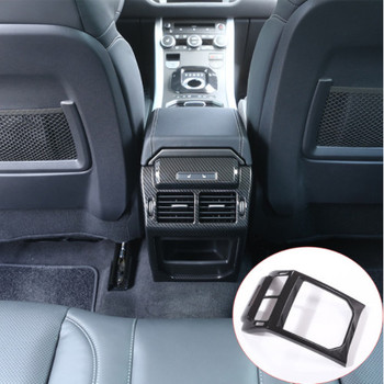 New! Carbon Fiber Style ABS Plastic Accessories For LandRover Range Rover Evoque 12-17 Rear Row AC Vent Outlet Frame Cover Trim