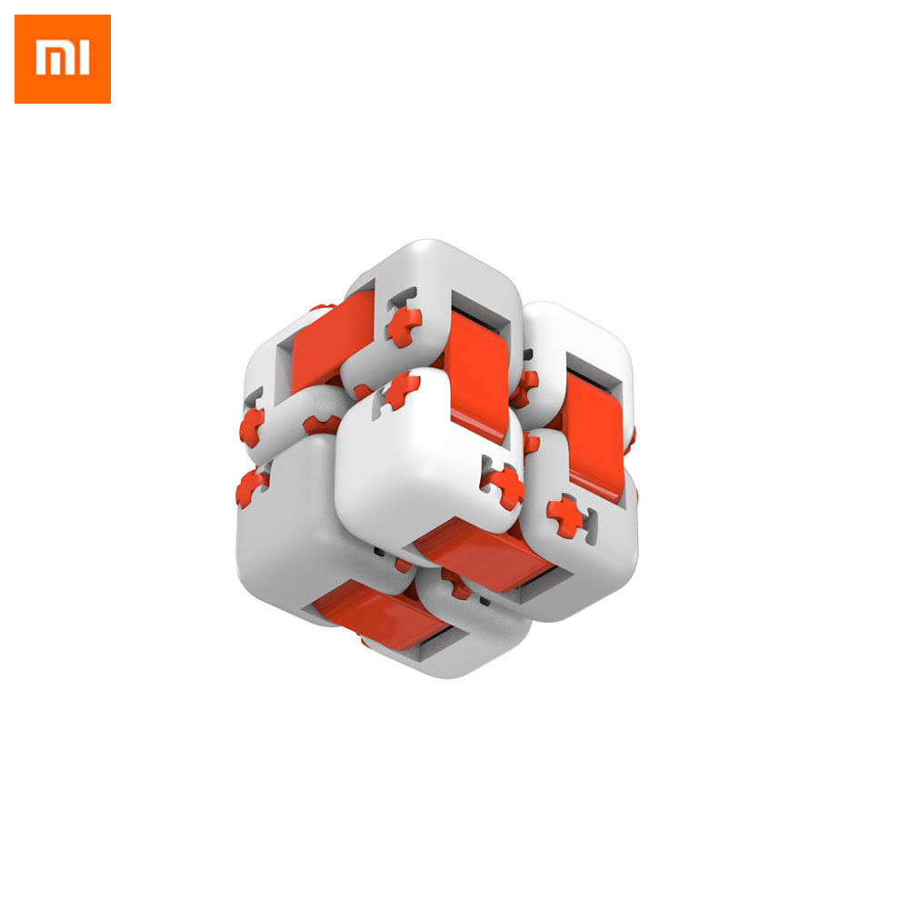 Original Xiaomi Mitu Cube Spinner Finger Bricks Fidget Building Blocks Itelligence Portable Smart Finger Toys Gift For Kids(China)