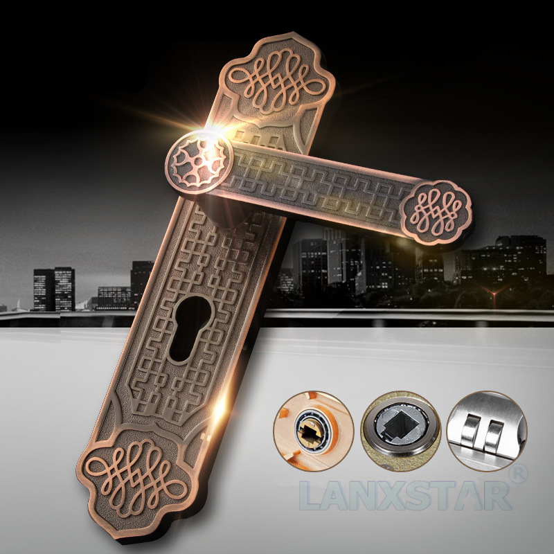ФОТО European Style Manufacturer Supply High-end Mechanical Handle Lock Anti-theft Zinc Alloy Room Gerneral Door locks