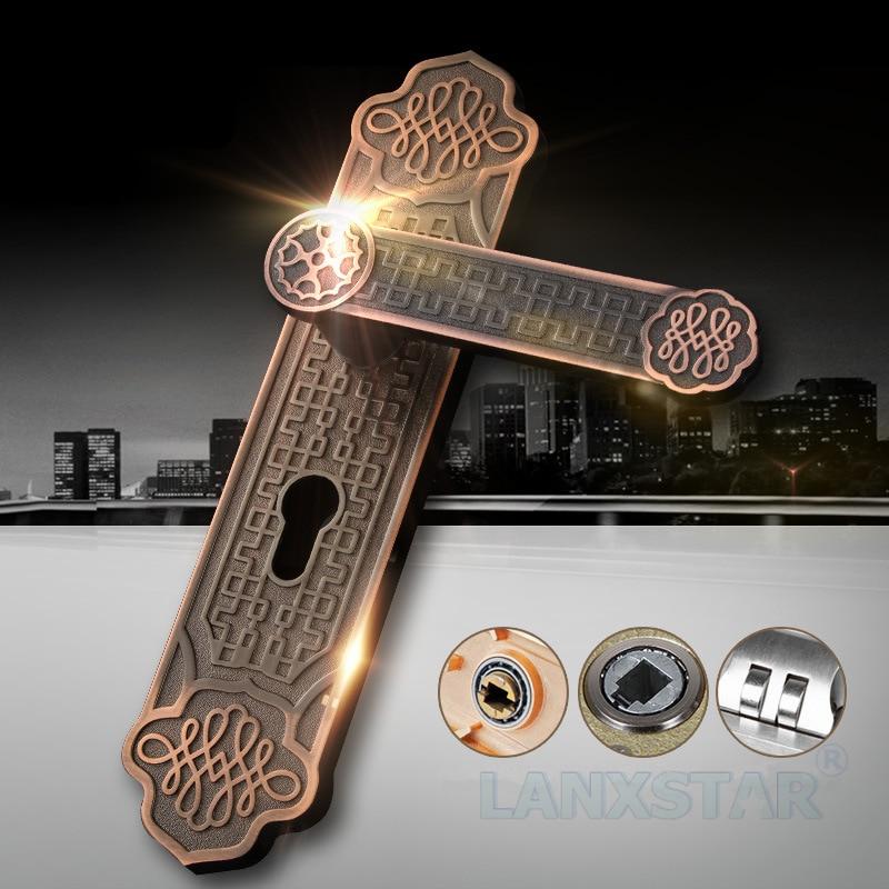 ФОТО European Style Manufacturer Supply High-end Mechanical Handle Lock Anti-theft Zinc Alloy Room Gerneral Door locks
