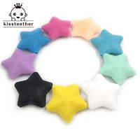 Baby Silicone Teether Toys For Infants 40 40 13MM Star Pendant Food Grade Materials Teether Necklace