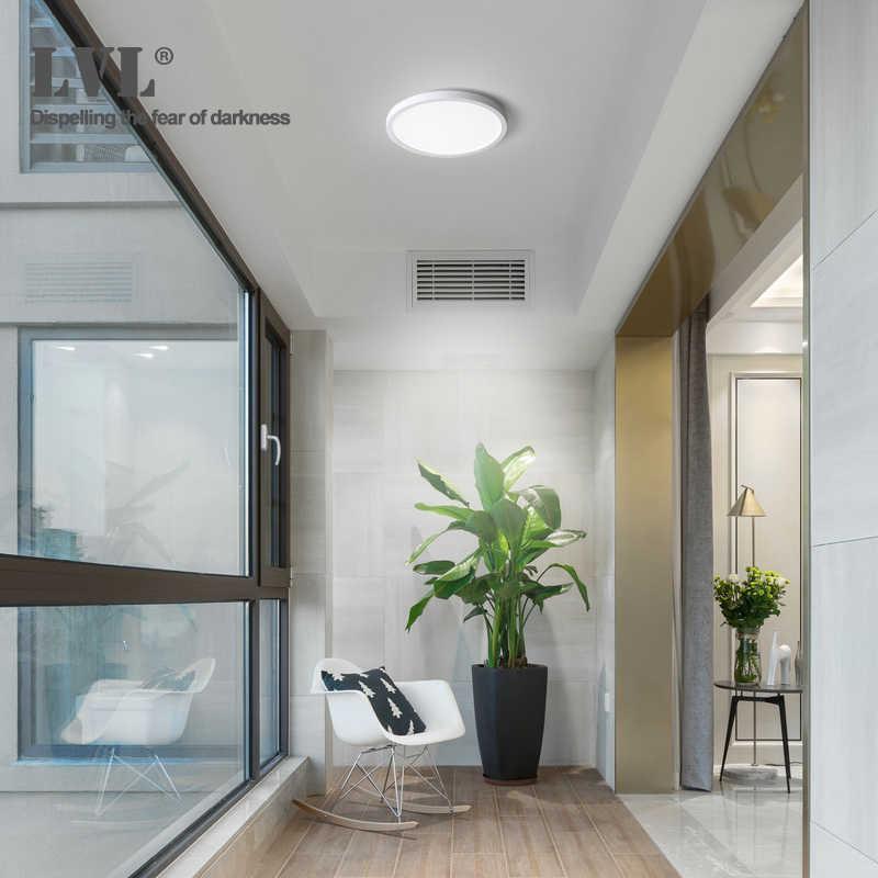 Светодиодный панельный светильник 6 Вт 9 Вт 13 Вт 18 Вт 24 Вт поверхностный потолочный светильник AC85-265V круглый потолочный светильник для внутреннего дома светильник ing