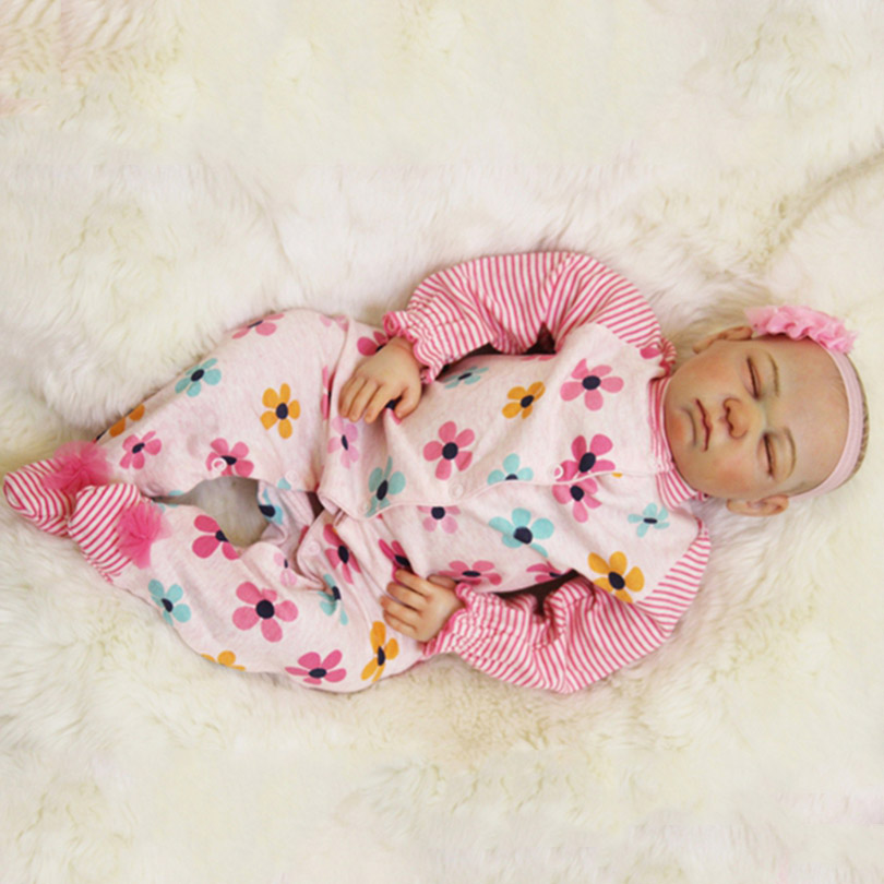 Newborn Cotton Baby Doll For Child Gifts Realistic about 55cm Bedtime Toys Dolls Fashion High Quality Dolls with Pacifier