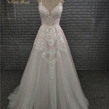 NOBLE BRIDE Vintage A Line Wedding Dress 2019 Floor Length