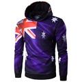 Novos Homens Chegada Austrália Bandeira Hoodies Impressão 3D Moletom assassins creed Alta Qualidade homens Hoodies Fatos de treino dos homens