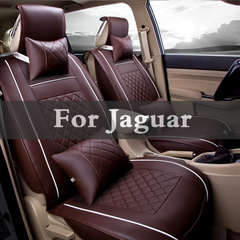 New Luxury Pu Protector Leather Auto Universal Car Seat Covers For Jaguar F-Pace Xf Xj Xjr Xfr Xk Xkr F-Type Xe S-Type X-Type high quality special leather car seat covers for jaguar all models xf xe xj f pace f type brand firm soft pu leather seat covers