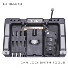 GHIXACTO Foldable HUK Key Fixing Tool Flip Key Vice of Flip-key Pin Remover for Locksmith Tool With Four Pins(one set) цены