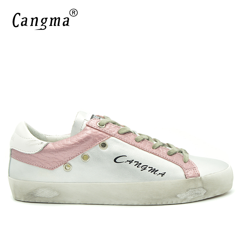 CANGMA Men Luxury Brand Retro Fashion Silver Leisure Shoes Male Genuine Leather Footwear Man Breathable Handmade Flat Shoe Adult cangma italy deluxe brand women men casual golden shoes zebra silver genuine leather low sstar smile goose shoes zapatos mujer
