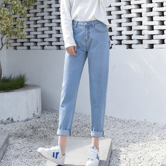 JUJULAND Fashion Winter High Waist Mom Female Boyfriend Jeans For Women Trousers Pencil Pants Denim Jeans Woman Plus Size