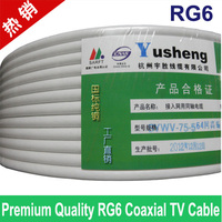 Premium Quality RG6 Coax Coaxial TV Cable Wire Wholesales Of 100feet Lots Free Shipping Tracking Number