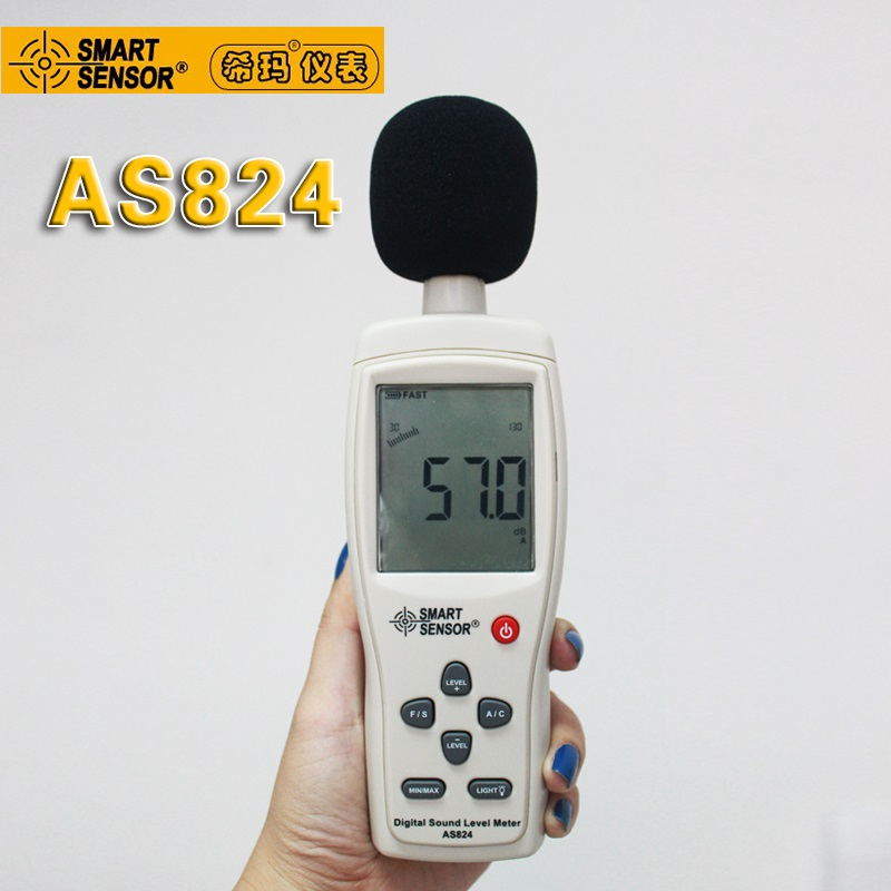 2016 new arrive Smart Sensor AS824 Digital Sound Level Meter/sound pressure level 30~130dB AS-824 [randomtext category=