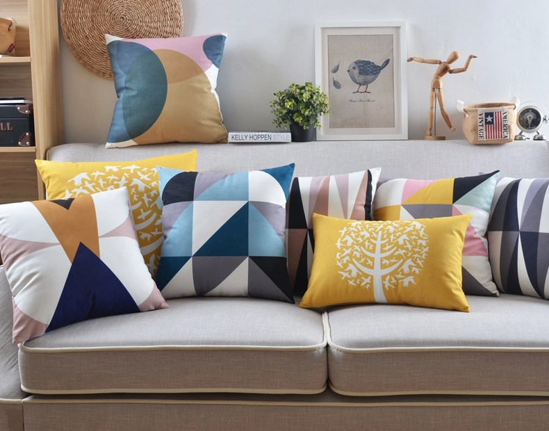 Nordic Home Decorative Sofa Throws Cushion Cover Geometry