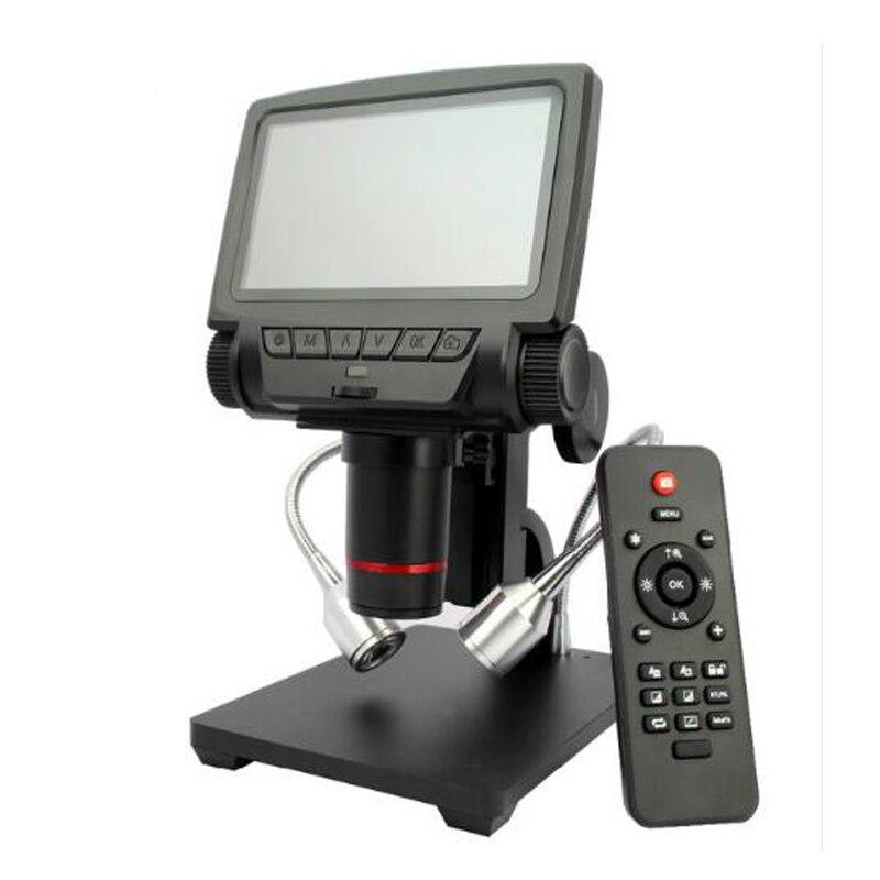 Nouveau microscope HDMI/USB de 5 pouces avec microscope électronique de télécommande pour outil de soudure de téléphone portable rapair bga