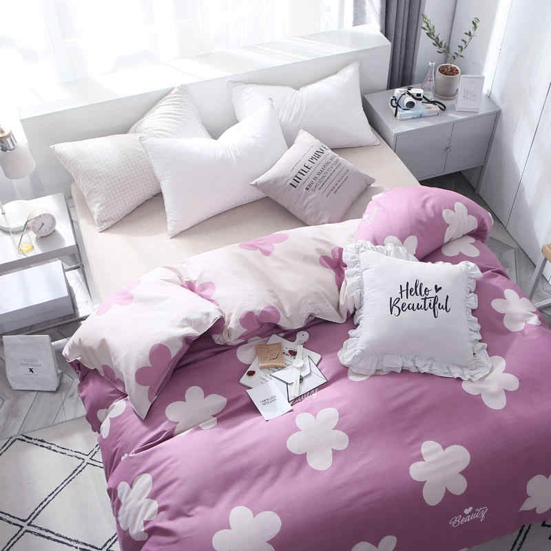 2019 New Bedding Set 100% Cotton Duvet Cover Quilt Cover Bed Sheet Pillowcase King Queen Full King Size Comforter Set Princess