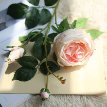 Rose single branch artificial flower home decoration Carlos Royal wedding holding road lead wall fake flowers