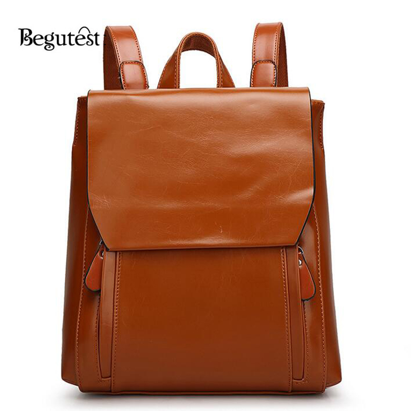 Popular Brown Leather Backpack-Buy Cheap Brown Leather Backpack ...