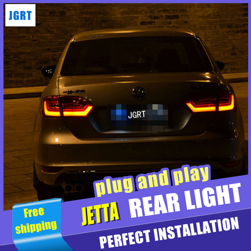 A&T Car Styling for VW Jetta Taillights 2011-2014 Jetta MK6 LED Tail Light LED Rear Lamp DRL+Brake+Park+Signal car styling tail lamp for vw jetta 2011 2014 tail lights led tail light rear lamp led drl brake park signal stop lamp