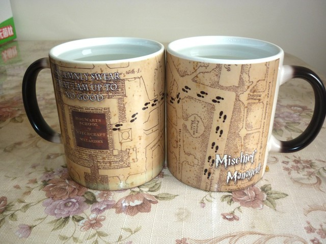 Harry Potter Marauders Map/ Mischief Managed/ Platform 9 3/4 Color Changing Mug