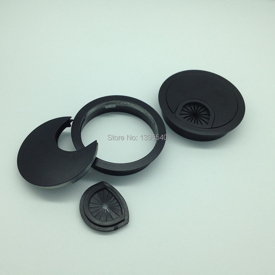New 60mm Computer Desk Wire Hole Cover Desk Table Grommet Cable Tidy ...