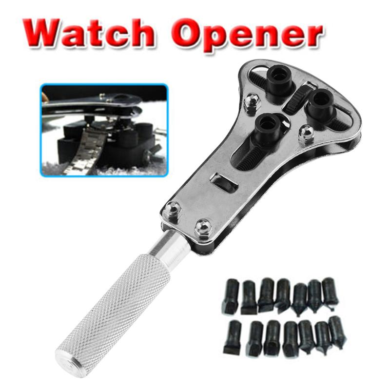 Watch Repair Tool Kit Watchmaker Back Case Opener Wrench Cover Remover Adjustable Watch Back Case Wrench Opener Repair Screw adjustable watch opener back case tool press closer remover wrench watch battery remover screw wrench repair watchmaker tools