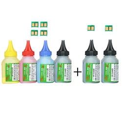 Poudre de toner 6 couleurs + cartouche de toner 6 puces CF350A 130A CF350 pour imprimante Laser HP Color LaserJet Pro MFP M176n MFP M177fw