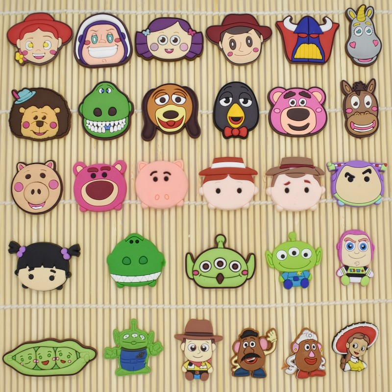 Kids Birthday Gift Toy Story PVC Flatback Ornament DIY Craft Charms For Cable Winder/Brooch/USB Charger/Card Holder/Bookmark