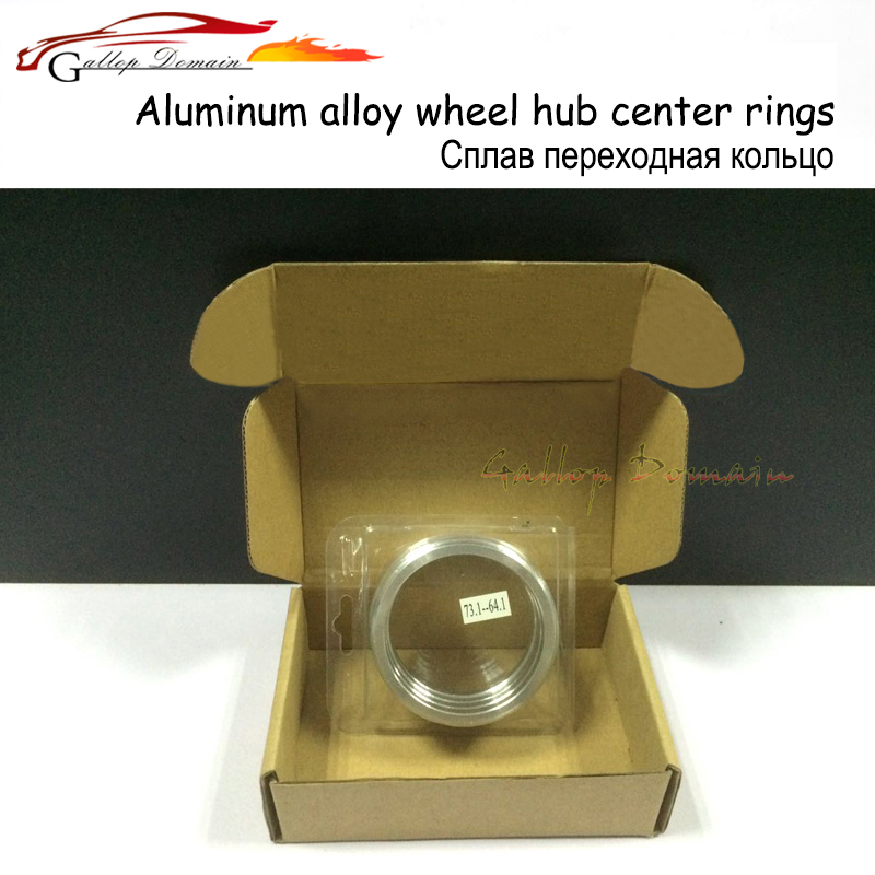 4pieces/lots 74.1-60.1 Hub Centric Rings OD=74.1mm ID= 60.1mm Aluminium Wheel hub rings Free Shipping Car-Styling