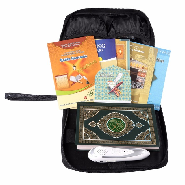 holy Quran pen Digital al quran reader Quran speaker mp3 koran reading pen Koran reader muslim islam8GB black leather bag