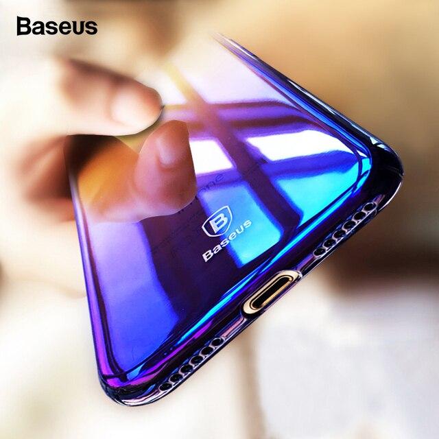 Baseus Phone Case For iPhone X 8 7 6 6s s Plus Ultra Slim Gradient Hard PC Back Cover For iPhone 8Plus 7Plus 6Plus Coque Fundas