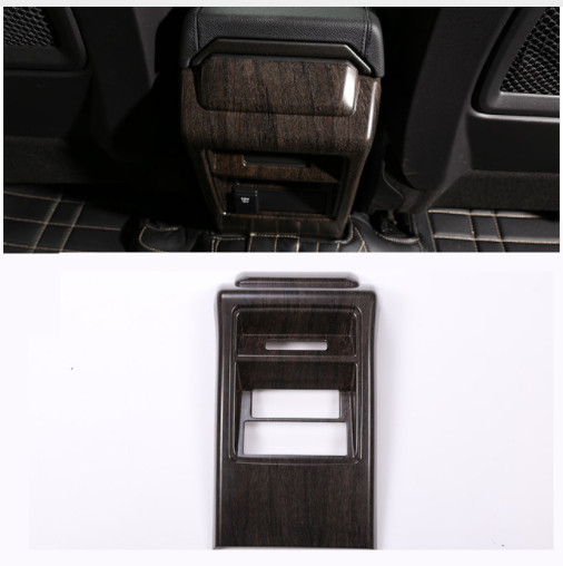 Chêne bois Style ABS Chrome siège arrière climatisation évent cadre garniture autocollant pour Land Rover découverte Sport 2015 + pièce de voiture
