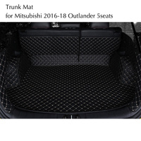 For Mitsubishi 2016 2017 2018 Outlander 2.4L 5Seats Rear Tail Car Trunk Mat Durable Boot Carpets Full Coverage Car Styling