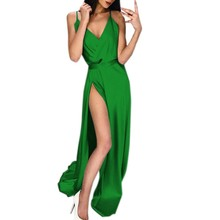 Feitong Sexy Women Dress Solid Beach Vintage Dresses Boho Casual High Waist Open Back Stitching Elegant Party Dress Plus Size