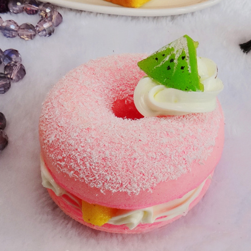 New Multi-color Random Sweet Squishy Simulation Donuts PU Fun Toys Decoration