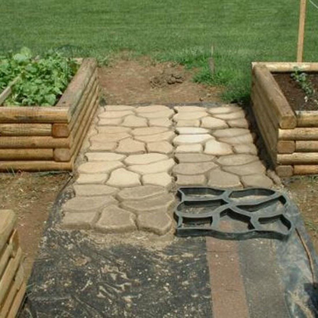 sendero de plstico fabricante de moldes x cm manualmente de ladrillos de cemento de piedra