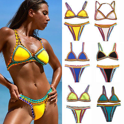 2017 Women Bikini Set Swimwear Bandage Push-Up Padded Swimsuit Bathing Beachwear 6color bikini 2017 swimsuit women popular dot bikini bandeau push up swimwear women strapless swimsuit off shoulder bathing suit beachwear thong