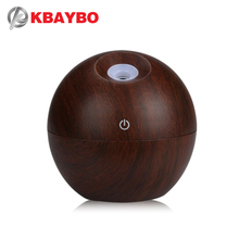 KBAYBO 130ml Mini USB Humidifier Aromatherapy Essential Oil Diffuser wood grain Ultrasonic Aroma Mist Maker for home office
