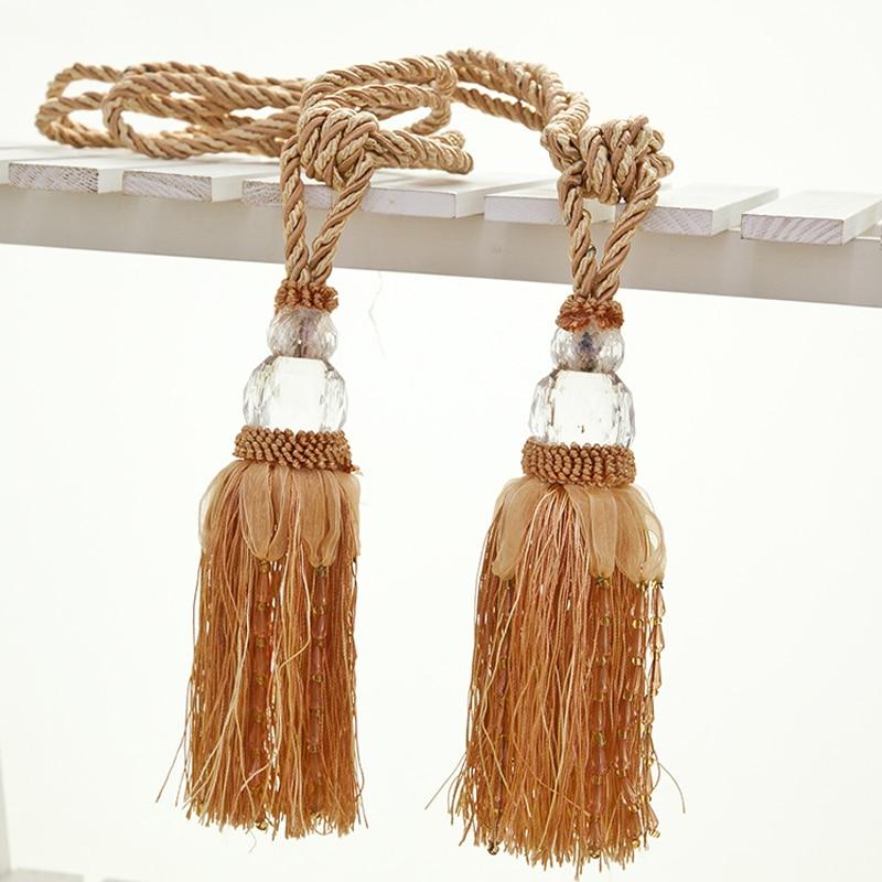 New Chiffon Small Curtain Decorative Tassel Tieback 2pk Home Free Shipping