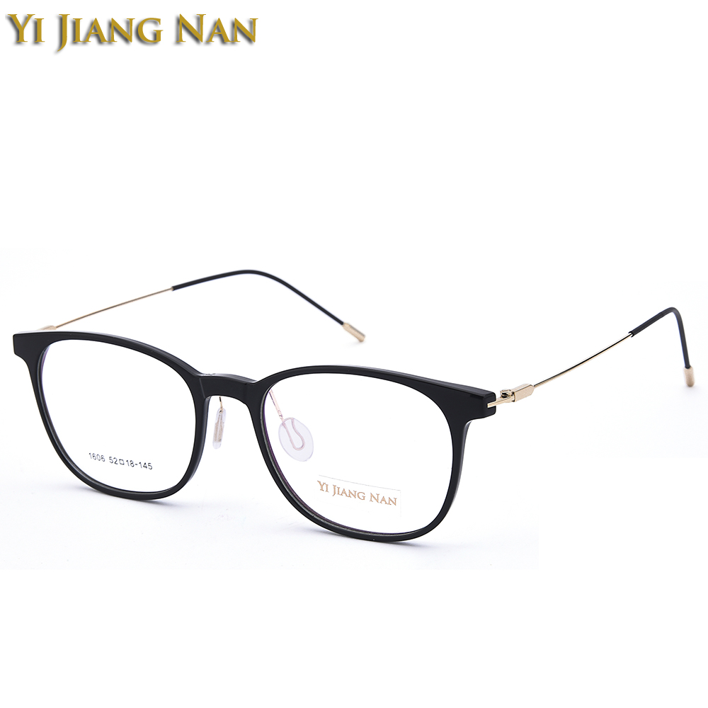 Yi Jiang Nan Brand Eyeglasses Women and Men Fashionable Frames Optical Eyewear Black Frame for Students