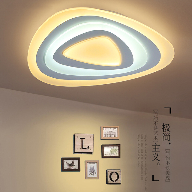 Dimmableremote control triangle shape modern led acrylic ceiling dimmableremote control triangle shape modern led acrylic ceiling lights for living room bedroom kids mozeypictures Gallery