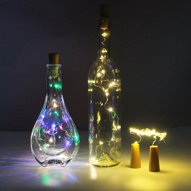 36pcs battery led copper wire starry string light fairy wine bottle cork led fairy