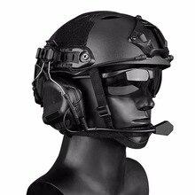 Тактическая гарнитура стрельба военный шлем наушники гарнитура COMTAC с быстрым шлемом рельсовый адаптер Peltor Набор для охоты на открытом воздухе