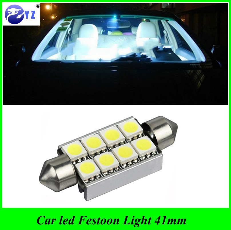 US $6.4 20% OFF|5 pcs car styling 41mm C5W C10W canbus no error Festoon 8 led 5050 smd Car Reading Lights error free Auto housing Interior lamps|car
