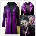 Jared Leto Joker Traje Comando Suicida de Halloween Cosplay Coat Por Encargo Envío Gratis