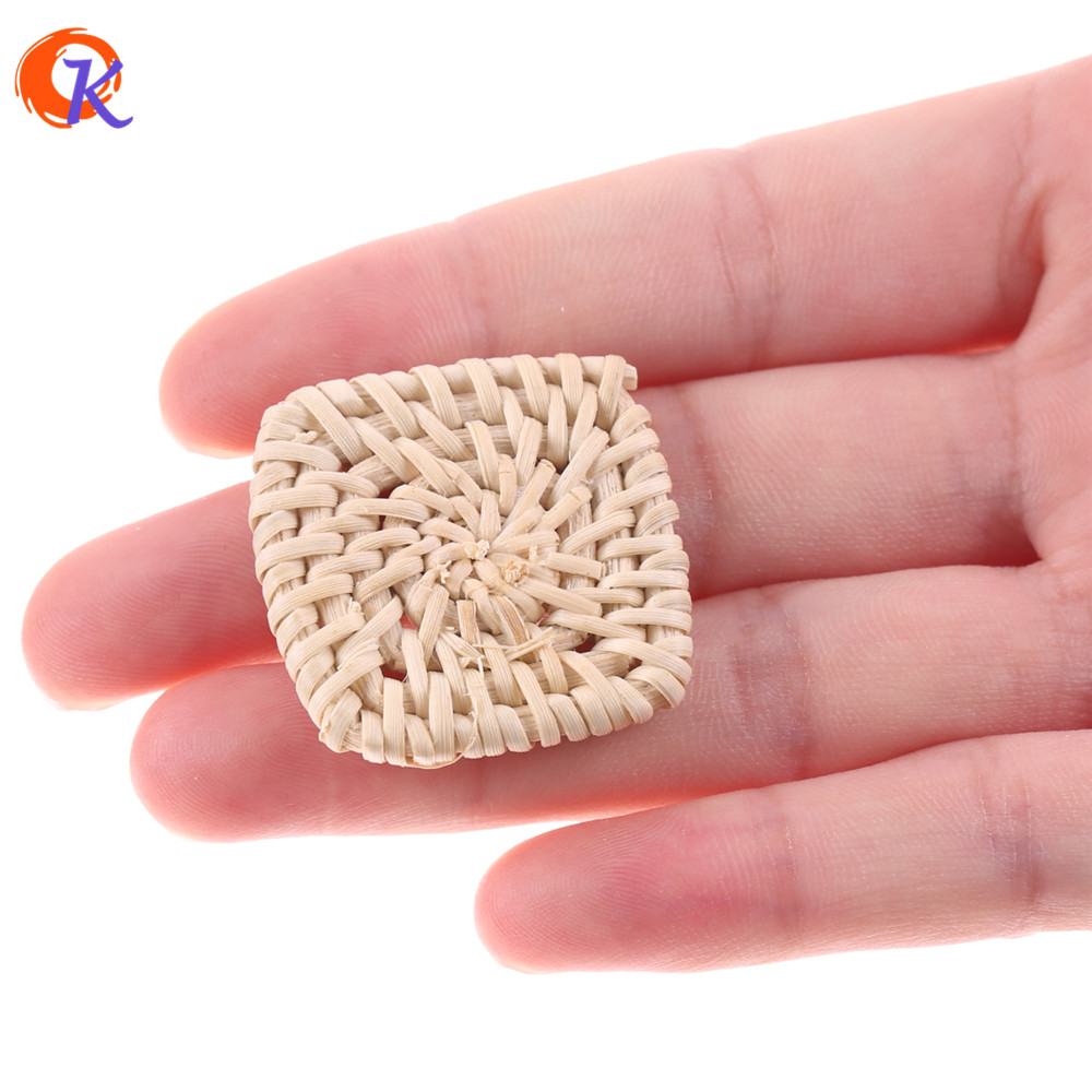 Cordial Design 20Pcs/Bag 30MM Jewelry Findings/Hand Made/DIY/Rattan Charm/Square Shapes/Embellishments/Earring Making