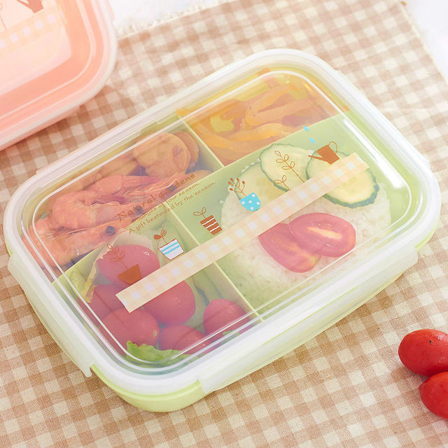 Hot Sale 5 Partition Cartoon Bento Lunch Box Set Children Adult Travel School Lunch Boxes Food Container Storage LB10